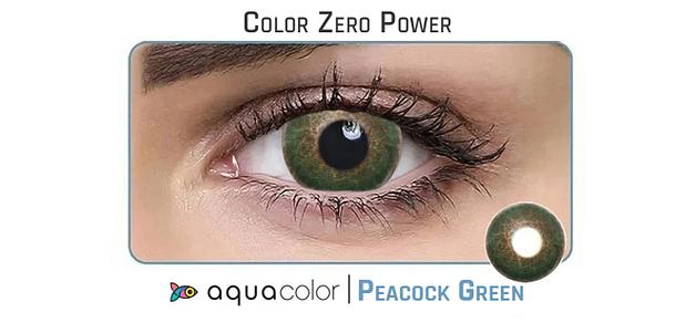 Aquacolor_Dailies 10LP Aquacolor Peacock Green Dailies Color