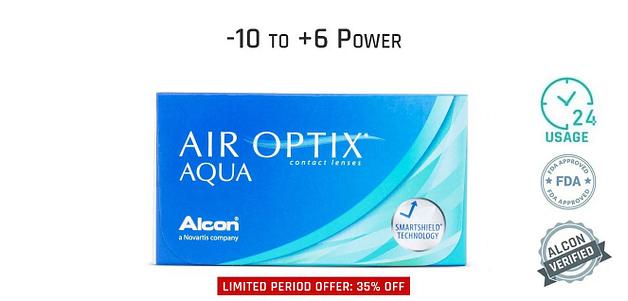 Alcon Air Optix Aqua Monthly 24 Hours (6 Lens)