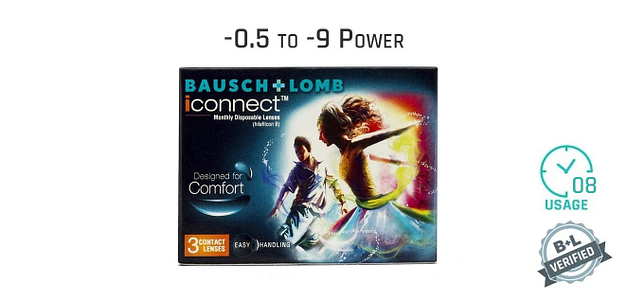 Bausch & Lomb I Connect Monthly 8 Hours (3 Lens)
